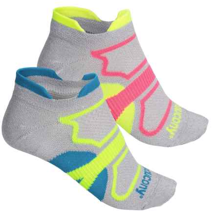 Saucony Dash Superlite Double-Tab Socks - 2-Pack, Below the Ankle (For Men and Women) in Light Grey - Closeouts