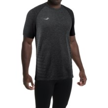Saucony Dash T-Shirt - Short Sleeve (For Men) in Dark Grey Heather - Closeouts