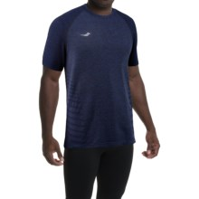 Saucony Dash T-Shirt - Short Sleeve (For Men) in Midnight - Closeouts