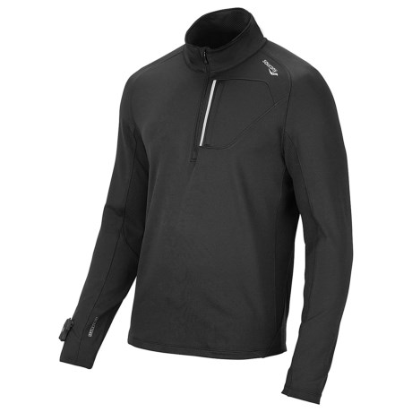 Saucony dryLETE® Sport Pullover - UPF 50+, Long Sleeve (For Men) in Black/Black