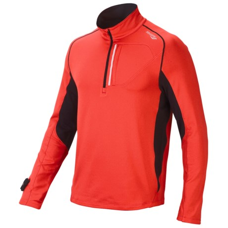 Saucony dryLETE® Sport Pullover - UPF 50+, Long Sleeve (For Men) in Strong Red/Black