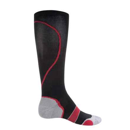 Saucony Elite Compression Socks - Over the Calf (For Men and Women) in Black - Closeouts