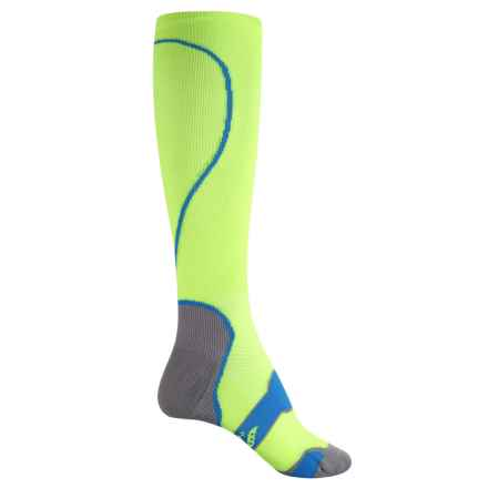 Saucony Elite Compression Socks - Over the Calf (For Men and Women) in Citron - Closeouts