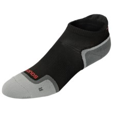 Saucony Elite Low-Cut Running Socks - Lightweight, Below-the-Ankle (For Men and Women) in Black - Closeouts