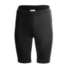 Saucony Elite Tri 8 Shorts - UPF 50+ (For Women) in Black/Lazer - Closeouts