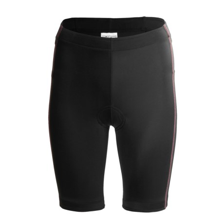 Saucony Elite Tri 8 Shorts - UPF 50+ (For Women) in Black/Lazer