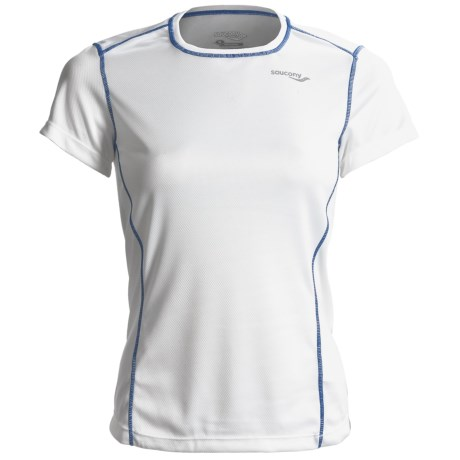 Saucony Empress Shirt - Short Sleeve (For Women) in White
