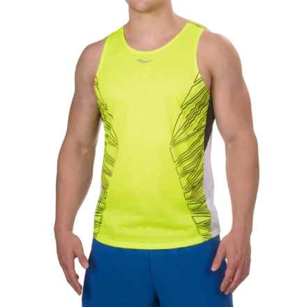 Saucony Endorphin Singlet - Racerback (For Men) in Vizipro Citron - Closeouts