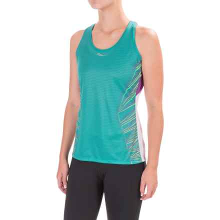 Saucony Endorphin Singlet Tank Top - Racerback (For Women) in Barbados - Closeouts