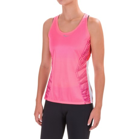 Saucony Endorphin Singlet Tank Top - Racerback (For Women) in Vizipro Pink