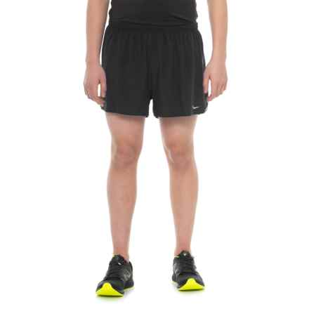 Saucony Endorphin Split Shorts - Built-In Briefs (For Men) in Black - Closeouts