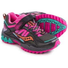Saucony Excursion A/C Running Shoes (For Little and Big Kids) in Black/Pink/Turquoise - Closeouts