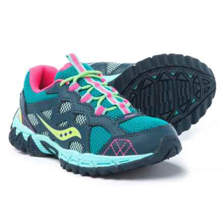 Saucony Excursion Running Shoes (For Girls) in Navy/Turquoise - Closeouts