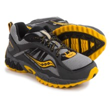 Saucony Excursion Running Shoes (For Little and Big Kids) in Grey/Black/Yellow - Closeouts