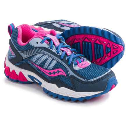 Saucony Excursion Running Shoes (For Little and Big Kids) in Navy/Blue/Pink - Closeouts