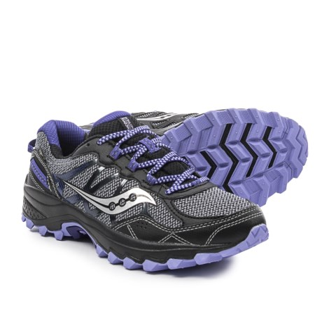 Saucony Excursion TR11 Gore-Tex® Trail Running Shoes - Waterproof (For Women) in Grey/Black/Purple