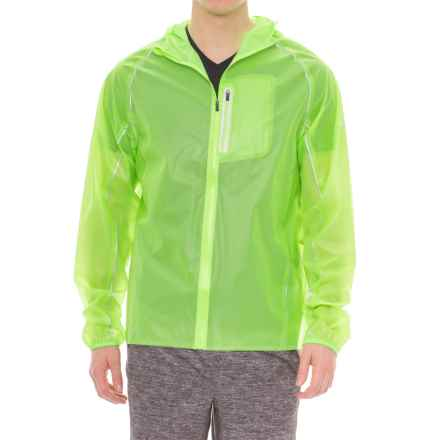 Saucony Exo Jacket - Waterproof (For Men) in Vizipro Slime - Closeouts
