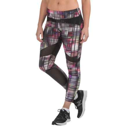 Saucony Fast Track Capris (For Women) in Black Print - Closeouts