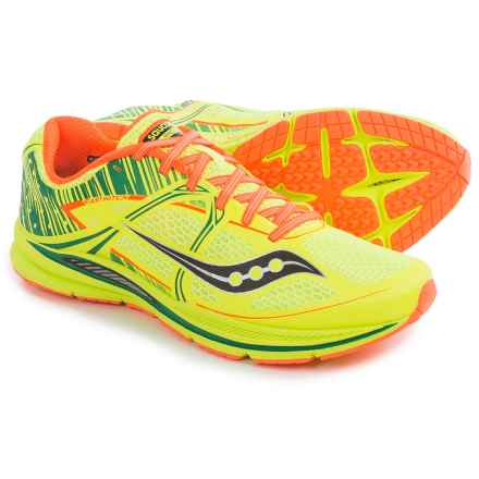 Saucony Fastwitch Running Shoes (For Men) in Citron/Vizipro Orange - Closeouts