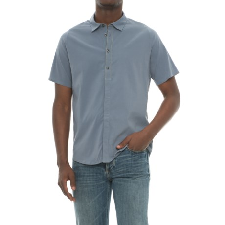 Saucony Fearless Shirt - Short Sleeve (For Men) in Flint Stone