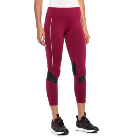 1a721b1d037b6b Saucony Finishing Kick Crop Leggings (For Women) in Beet Red - Closeouts