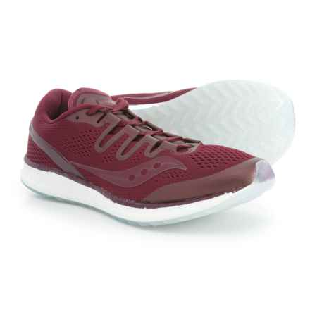 Saucony Freedom ISO Running Shoes (For Men) in Burgundy - Closeouts