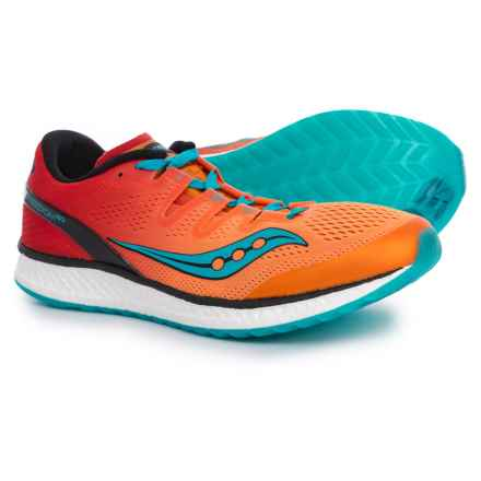 Saucony Freedom ISO Running Shoes (For Men) in Orange/Red/Teal - Closeouts