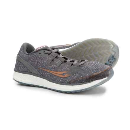 Saucony Freedom ISO Running Shoes (For Women) in Grey/Denim/Copper - Closeouts