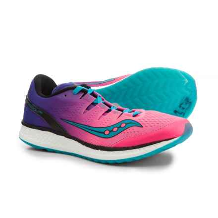 Saucony Freedom ISO Running Shoes (For Women) in Pink/Purple/Teal - Closeouts
