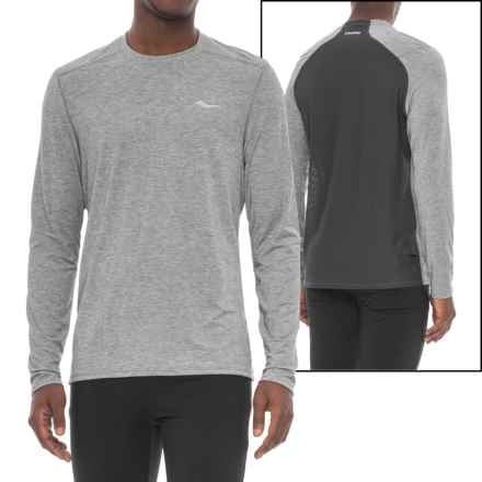 Saucony Freedom Shirt - Long Sleeve (For Men) in Dark Grey Heather - Closeouts