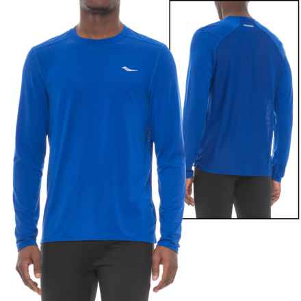 Saucony Freedom Shirt - Long Sleeve (For Men) in Varsity Blue - Closeouts