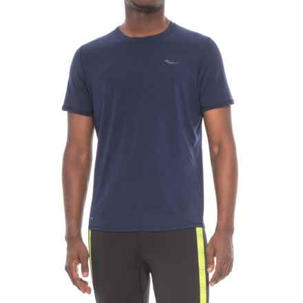 Saucony Freedom Shirt - Short Sleeve (For Men) in Midnight - Closeouts