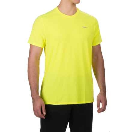 Saucony Freedom Shirt - Short Sleeve (For Men) in Vizipro Citron - Closeouts