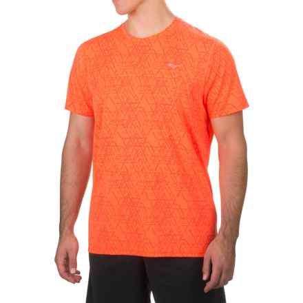 Saucony Freedom Shirt - Short Sleeve (For Men) in Vizipro Orange - Closeouts