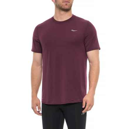 Saucony Freedom Shirt - Short Sleeve (For Men) in Zinfandel - Closeouts