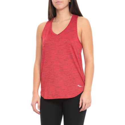 Saucony Gait Tank Top - V-Neck, Racerback (For Women) in Lollipop - Closeouts