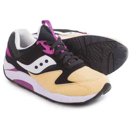 Saucony Grid 9000 Sneakers (For Men) in Black/Cream - Closeouts