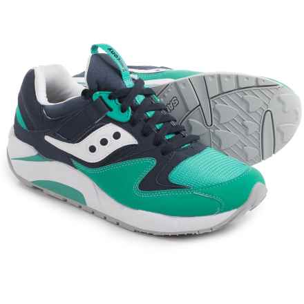 Saucony Grid 9000 Sneakers (For Men) in Navy/Green - Closeouts