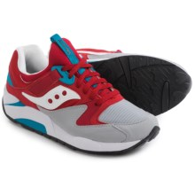 Saucony Grid 9000 Sneakers (For Men) in Red/Grey - Closeouts