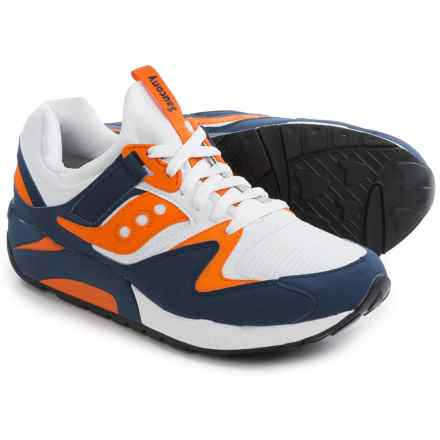 Saucony Grid 9000 Sneakers (For Men) in White/Blue/Orange - Closeouts