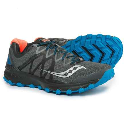 Saucony Grid Caliber TR Trail Running Shoes (For Men) in Grey/Blue/Orange - Closeouts