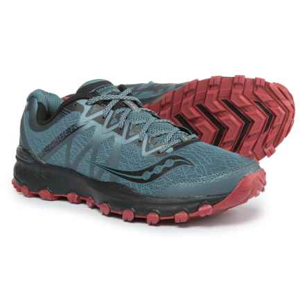 Saucony Grid Caliber TR Trail Running Shoes (For Men) in Grey/Red - Closeouts