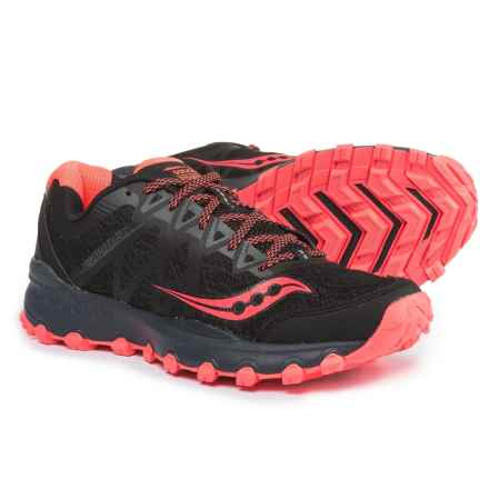 Saucony Grid Caliber TR Trail Running Shoes (For Women) in Black/Coral - Closeouts