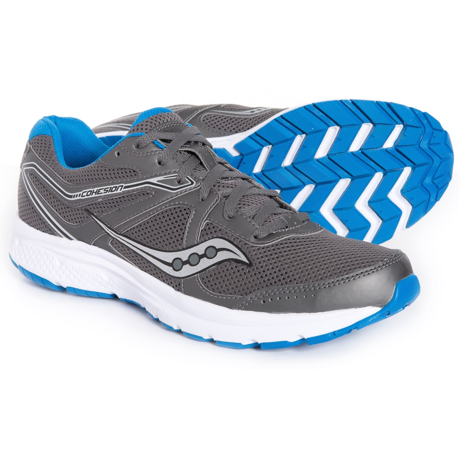 9eed84380c1e Saucony Grid Cohesion 11 Running Shoes (For Men) in Charcoal Blue