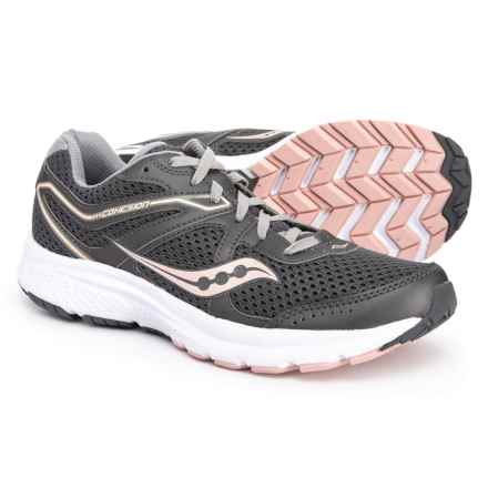 d85e5f6e630 Saucony Grid Cohesion 11 Running Shoes (For Women) in Charcoal Peach