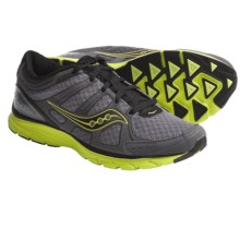 Saucony Grid Crossfire Running Shoes (For Men) in Black/Citron/Grey - Closeouts