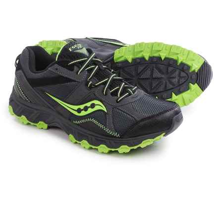 Saucony Grid Escape Trail Running Shoes (For Men) in Grey/Green - Closeouts
