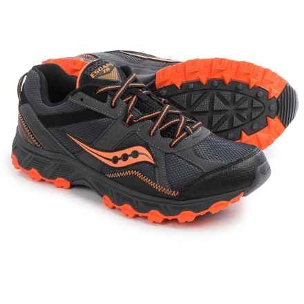Saucony Grid Escape Trail Running Shoes (For Men) in Grey/Vizi Orange - Closeouts