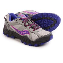Saucony Grid Escape Trail Running Shoes (For Women) in Grey/Blue/Pink - Closeouts