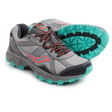 Saucony Grid Escape Trail Running Shoes (For Women) in Grey/Coral/Mint - Closeouts